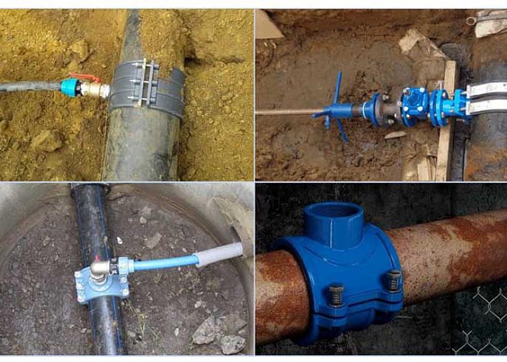 как делается врезка в водопровод